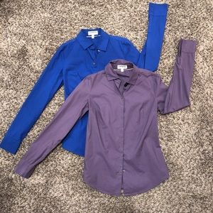Lot of 2 Express ultimate essential shirt XXS